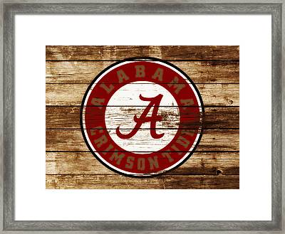 The Alabama Crimson Tide 3e             Framed Print by Brian Reaves