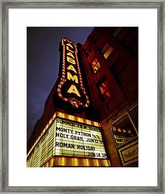 The Alabama In Lights Framed Print