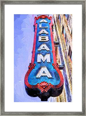 The Alabama Theater Framed Print by JC Findley
