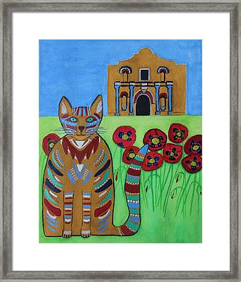 the Alamo Cat Framed Print