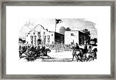 The Alamo Fort At San Antonio Framed Print