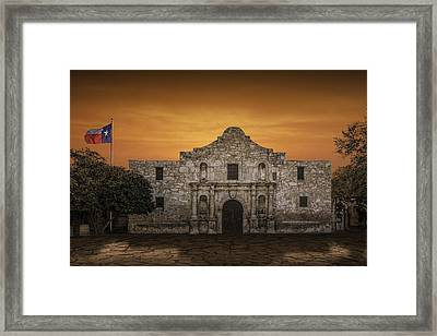 The Alamo Mission In San Antonio Framed Print by Randall Nyhof