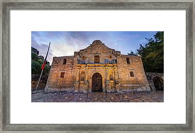 Framed Print featuring the photograph The Alamo - San Antonio Texas by Gregory Ballos