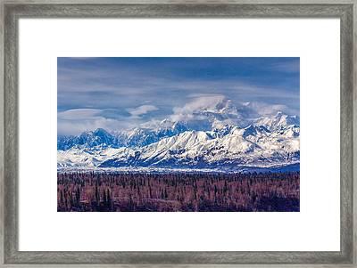 The Alaska Range At Mount Mckinley Alaska Framed Print
