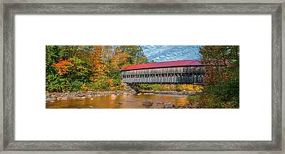 Framed Print featuring the photograph The Albany Bridge - Kancamagus Highway by Expressive Landscapes Fine Art Photography by Thom