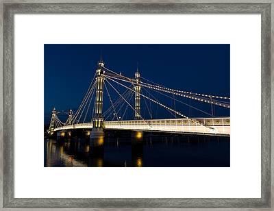 The Albert Bridge London Framed Print