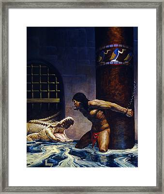 The Albino Framed Print by Richard Hescox