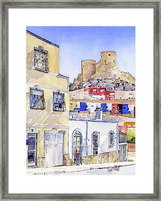 The Alcazaba From La Chanca Almeria Framed Print by Margaret Merry