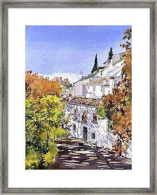 The Alhambra From Sacromonte Granada Framed Print by Margaret Merry