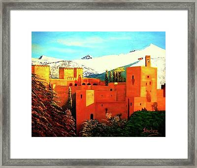 The Alhambra Of Granada Framed Print