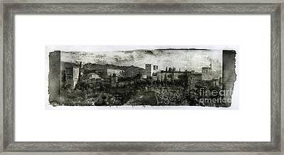 The Alhambra Palace Gum Bichromate Framed Print by Guido Montanes Castillo