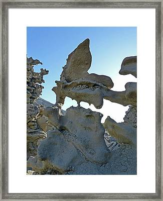 The Alien At Fantasy Canyon Framed Print by Jeff Brunton