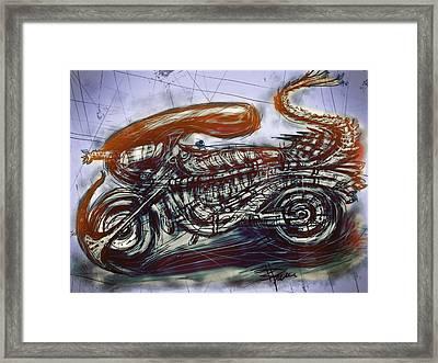 The Alien Bike Framed Print by Russell Pierce