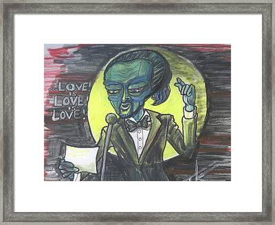 The Alien Lin-manuel Miranda Framed Print