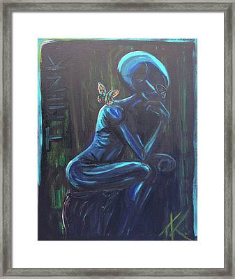 The Alien Thinker Framed Print