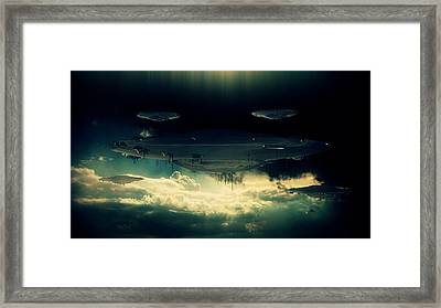 The Aliens Are Here By Raphael Terra Framed Print