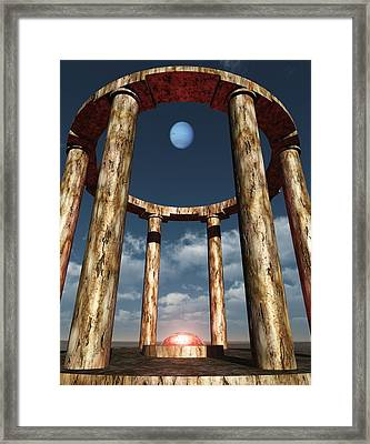 The Aligning Of Neptune Framed Print by Richard Rizzo