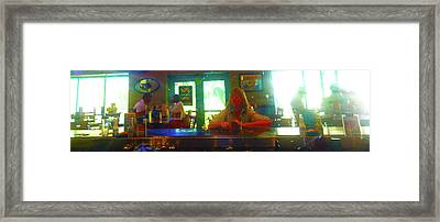The All Day Cafe Framed Print