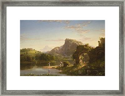 The Allegro Framed Print by Thomas Cole