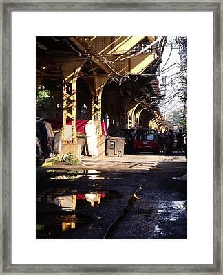 The Alley I Framed Print by Anna Villarreal Garbis