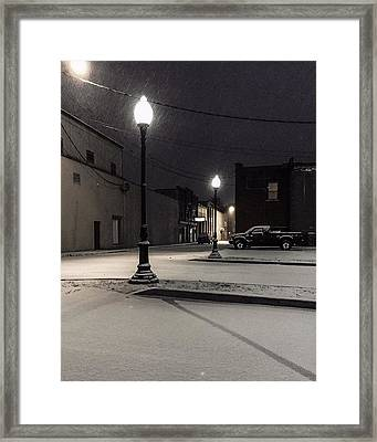 Framed Print featuring the photograph The Alley by Kendall McKernon