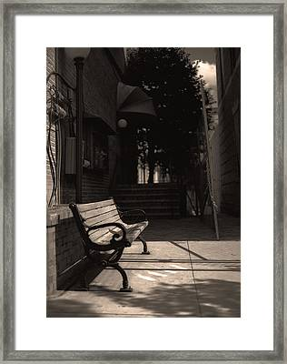The Alleyway Framed Print by Ayesha  Lakes
