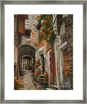The Alleyway Framed Print by Charlotte Blanchard