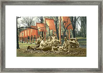 The Allusiveness Of Recollection Framed Print by Roslyn Rose