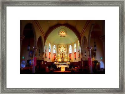 The Altar Of Sacre Coeur  Framed Print by Karen Cook