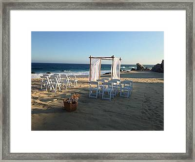 The Alter By The Sea Framed Print