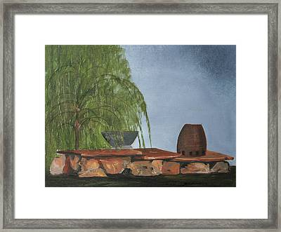 Framed Print featuring the painting The Alter by Jane Autry