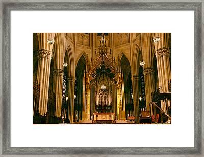 The Altar Of St. Patrick's   Framed Print by Jessica Jenney