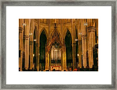 The Altar Of St. Patrick's Cathedral Framed Print by Jessica Jenney