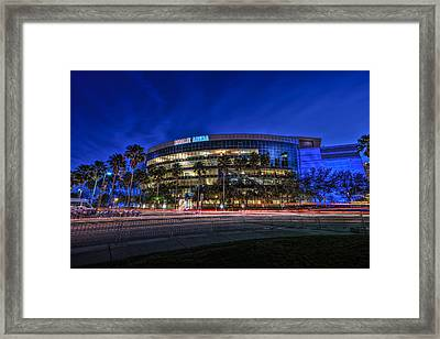 The Amalie Arena Framed Print by Marvin Spates