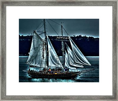 The Amazing Grace Topsail Schooner Framed Print