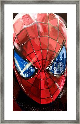 The Amazing Spider-man... Framed Print by Mark Tonelli