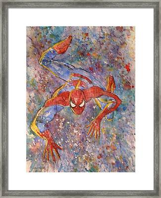 The Amazing Spider Man Framed Print by Robert Hogg