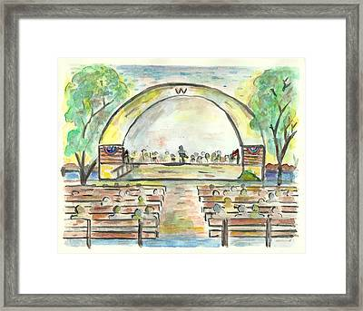The Amazing Worthington City Band Framed Print by Matt Gaudian