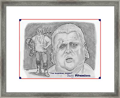 The American Dream Dusty Rhodes Framed Print by Chris  DelVecchio