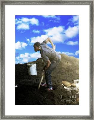 In Search Of The American Dream Framed Print by Walter Oliver Neal