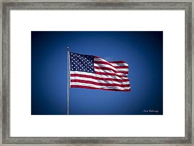 The American Flag 7 Star Spangled Banner Art Framed Print by Reid Callaway