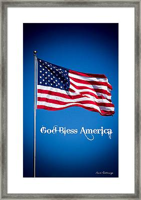The American Flag Art 9 Framed Print by Reid Callaway