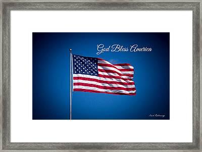 The American Flag Star Spangled Banner Art Framed Print by Reid Callaway