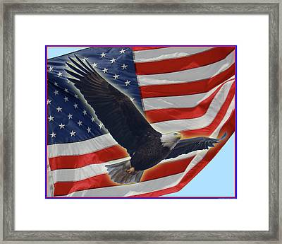 The American Framed Print