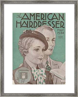 The American Hairdresser May 1934 Framed Print by Daniel Tanner