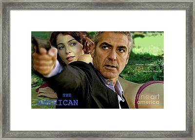 The American, Movie Poster Creation, George Clooney And Viloante Placido Framed Print