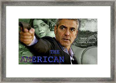 The American, Movie Poster Creation, George Clooney And Viloante Placido Framed Print by Thomas Pollart