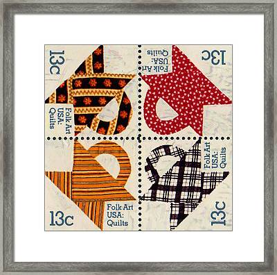 The American Quilts  Framed Print