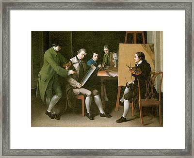 The American School Framed Print by Matthew Pratt