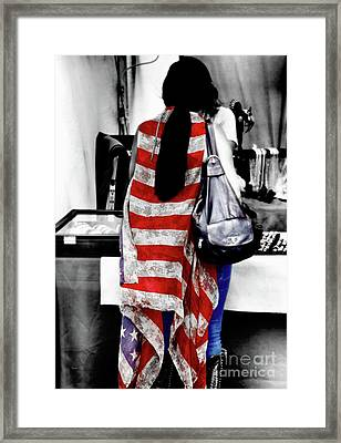 The American  Framed Print by Steven Digman